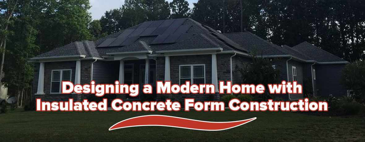 Modern Home Insulated Concrete Form Header 1
